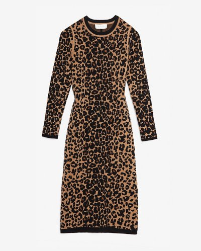 A.L.C Exclusive Leapord Longsleeve Knit Dress $299.99