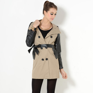 YesStyle Z faux leather trench 40